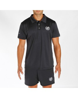 POLO TECNICO BLACK EDITION LOGO GRIS