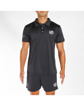 POLO TECNICO BLACK EDITION LOGO CELESTE